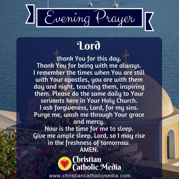 Evening Prayer Catholic Wednesday 10-9-2019