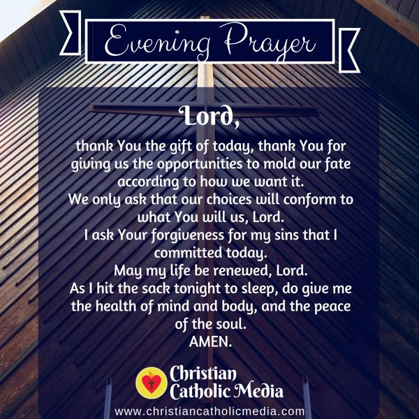 Evening Prayer Catholic Tuesday 9-10-2019