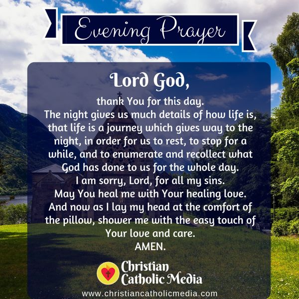 Evening Prayer Catholic Sunday 9-15-2019