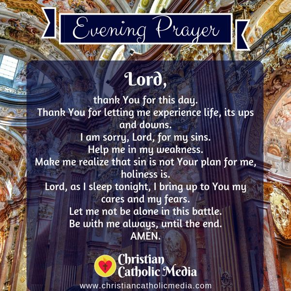 Evening Prayer Catholic Wednesday 9-18-2019