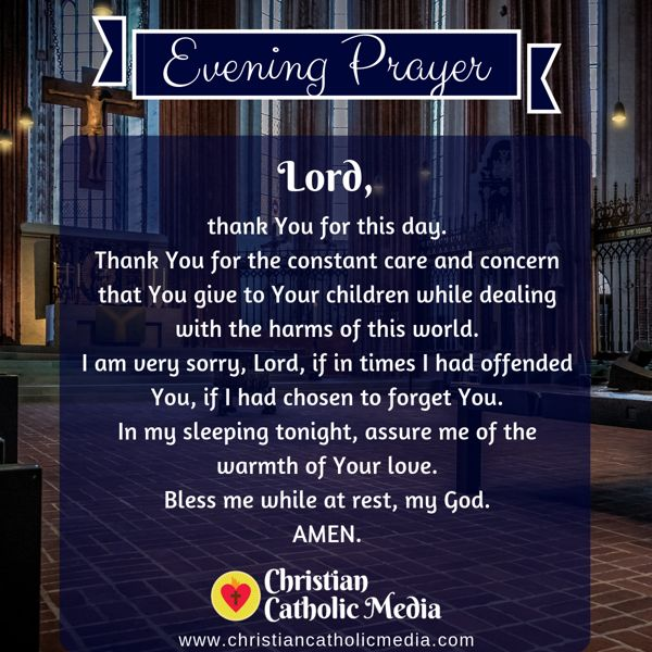 Evening Prayer Catholic Monday 9-2-2019