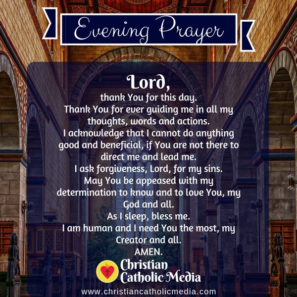 Evening Prayer Catholic Tuesday 9-3-2019