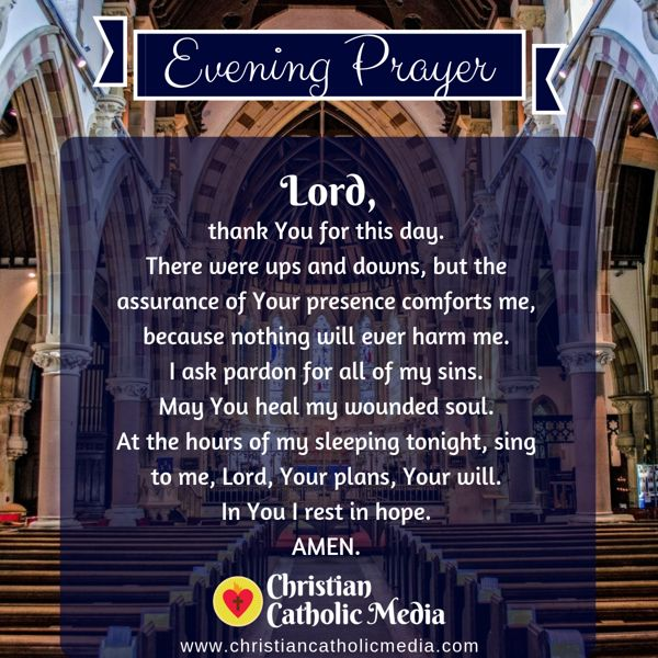 Evening Prayer Catholic Wednesday 9-4-2019