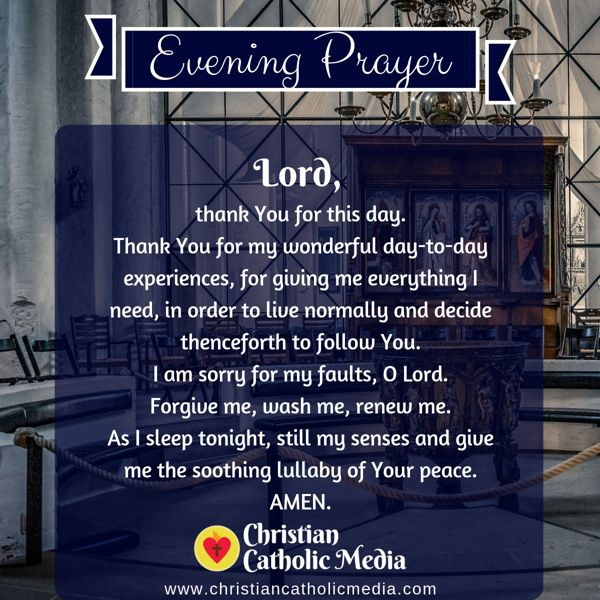 Evening Prayer Catholic Saturday 9-7-2019