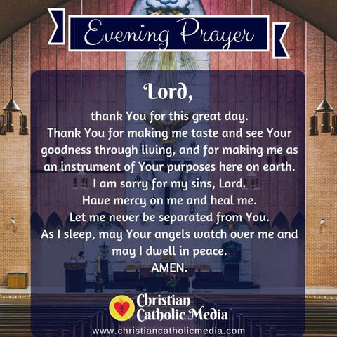 Evening Prayer Catholic Monday 7-22-2019
