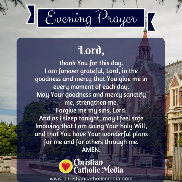 Evening Prayer Catholic Tuesday 9-17-2019
