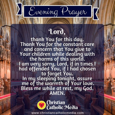 Evening Prayer Catholic Wednesday 7-24-2019
