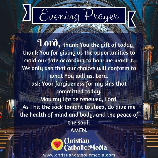 Evening Prayer Catholic Monday 11-4-2019