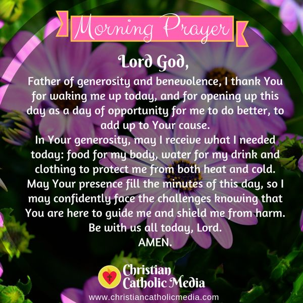 Morning Prayer Catholic Tuesday 9-17-2019