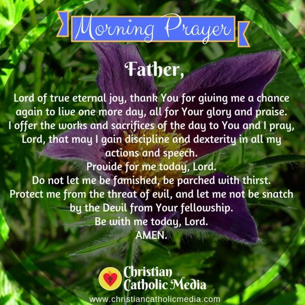 Morning Prayer Catholic Wednesday 11-13-2019
