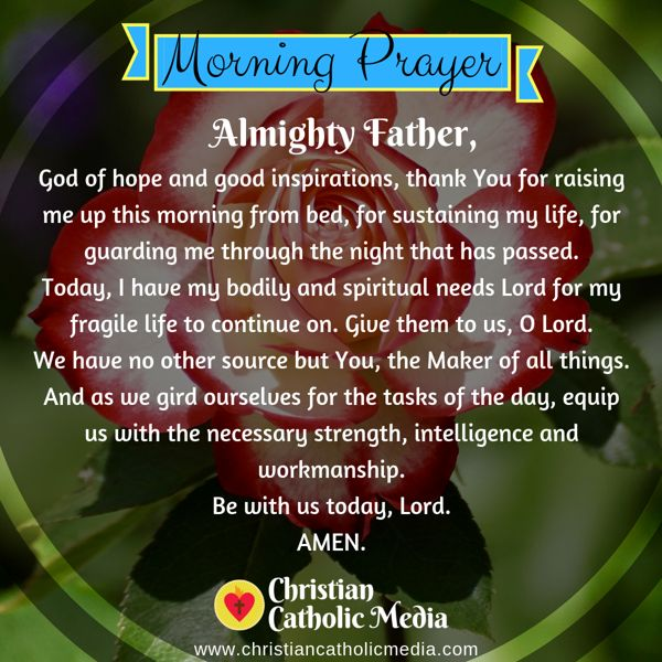 Morning Prayer Catholic Friday 8-9-2019