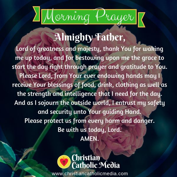 Morning Prayer Catholic Thursday 8-15-2019