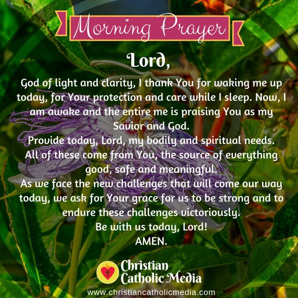 Morning Prayer Catholic Friday 8-23-2019