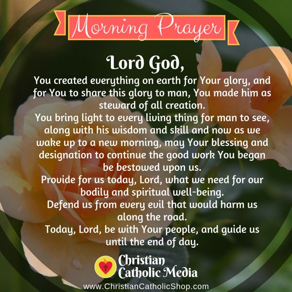 Morning Prayer Catholic Wednesday 8-28-2019