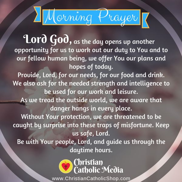 Morning Prayer Catholic Thursday 8-29-2019