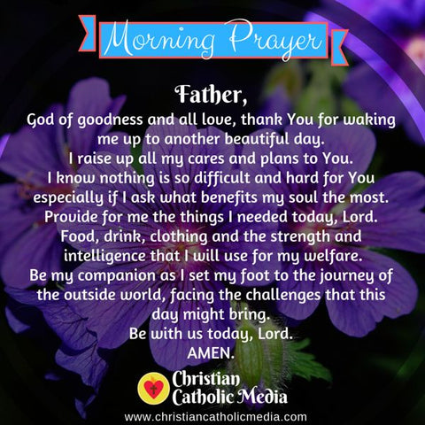 Morning Prayer Catholic Tuesday 8-6-2019