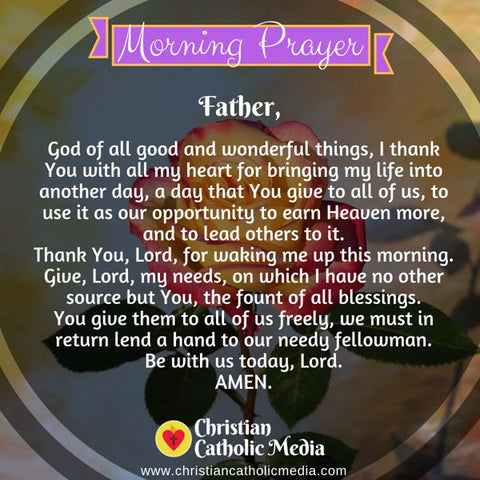 Morning Prayer Catholic Monday 7-22-2019