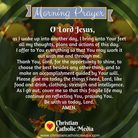 Morning Prayer Catholic Wednesday 7-24-2019