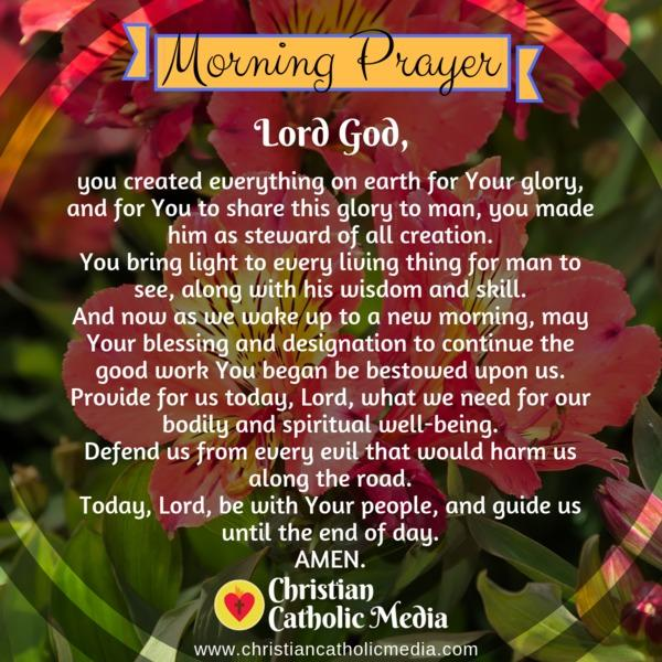 Morning Prayer Catholic Monday 11-11-2019