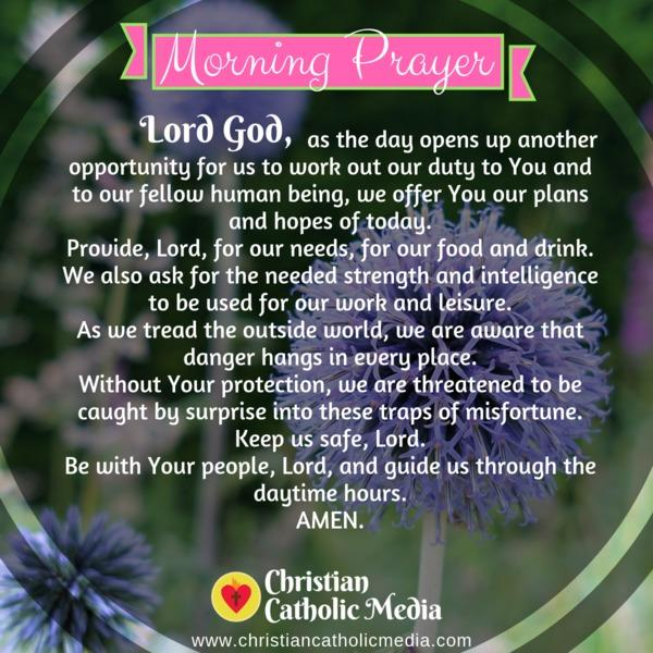 Morning Prayer Catholic Tuesday 11-12-2019
