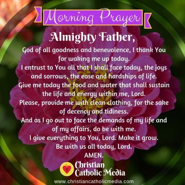Morning Prayer Catholic Wednesday 11-6-2019