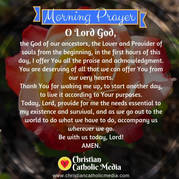 Morning Prayer Catholic Friday 11-8-2019