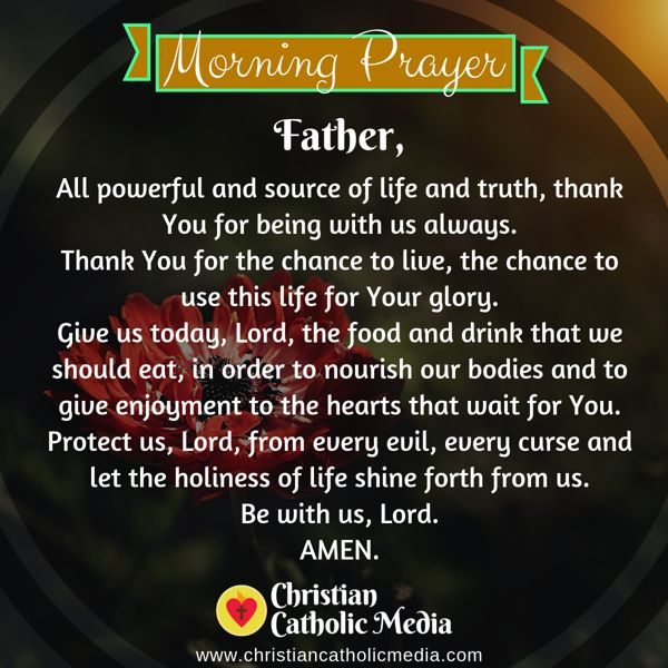 Morning Prayer Catholic Friday 10-18-2019