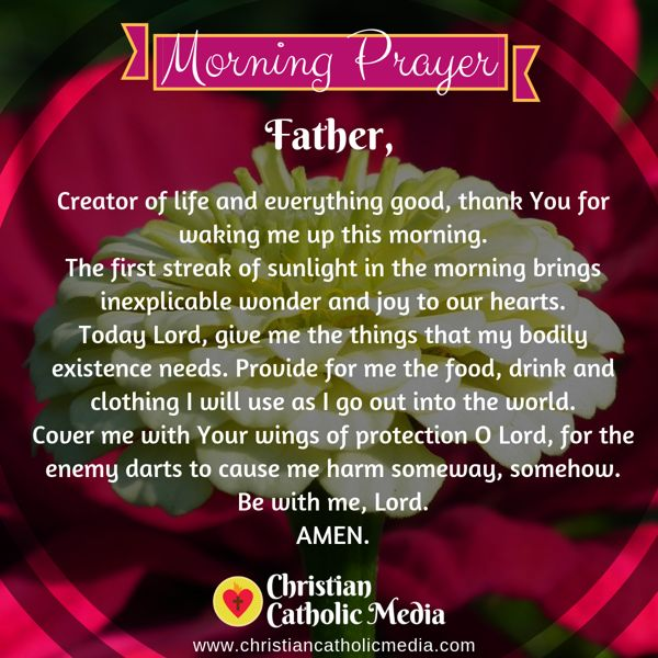 Morning Prayer Catholic Wednesday 10-23-2019