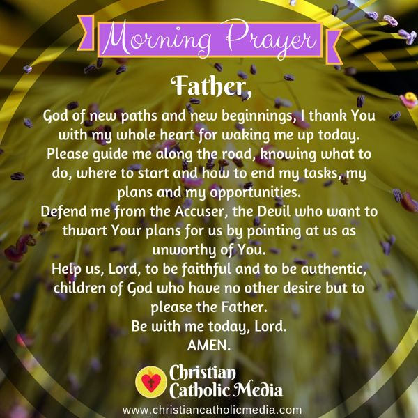 Morning Prayer Catholic Friday 10-25-2019