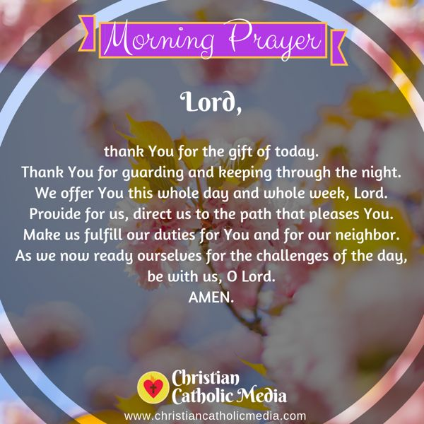 Morning Prayer Catholic Wednesday 10-2-2019