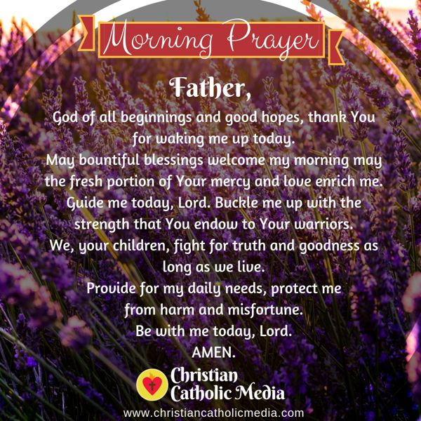 Morning Prayer Catholic Wednesday 10-9-2019