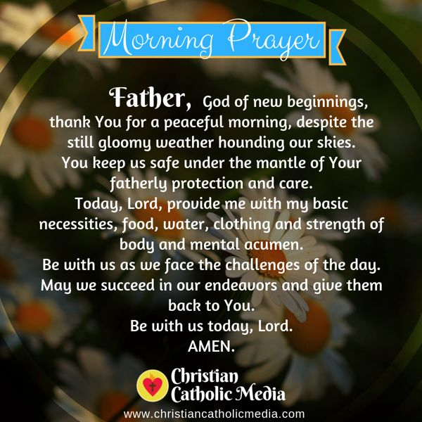Morning Prayer Catholic Monday 9-16-2019