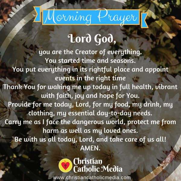 Morning Prayer Catholic Monday 9-30-2019