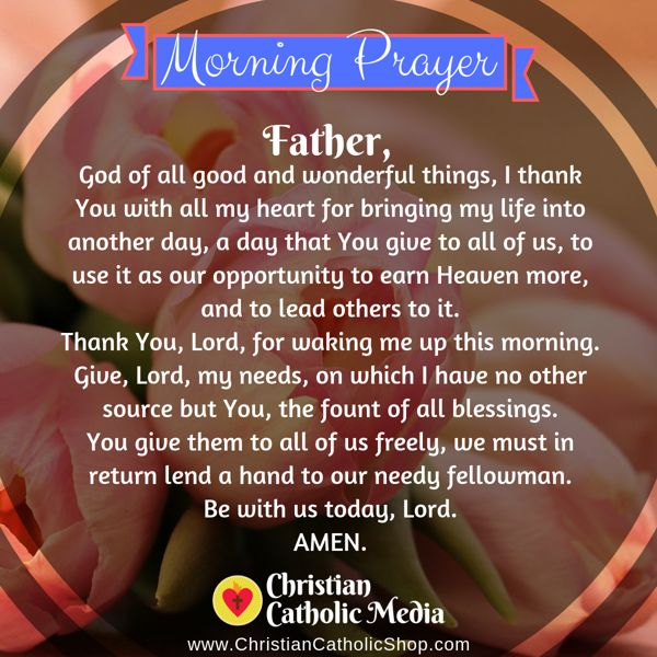 Morning Prayer Catholic Wednesday 9-4-2019