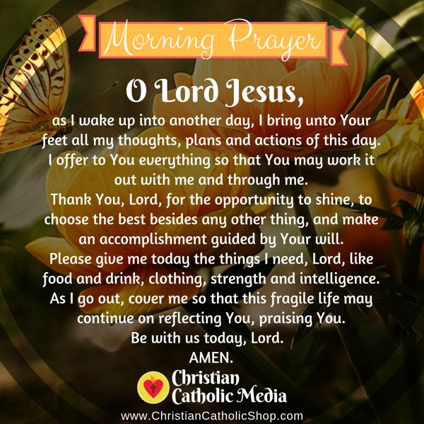 Morning Prayer Catholic Friday 9-6-2019