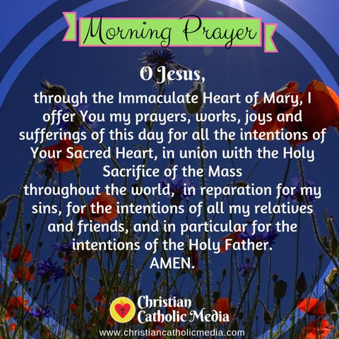 Morning Prayer Catholic Wednesday 7-31-2019