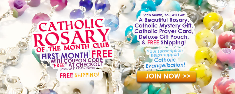 Catholic Rosary Of The Month Club - First Month FREE - Join Now