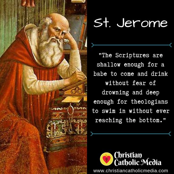 St. Jerome - Monday September 30, 2019