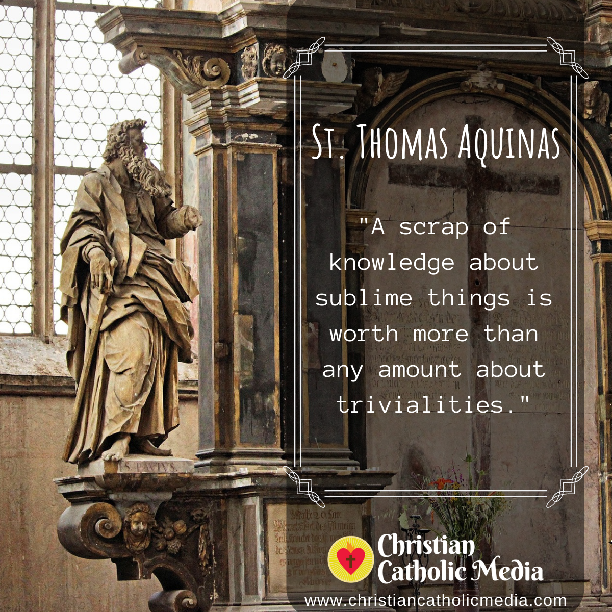 St. Thomas Aquinas - Saturday November 23, 2019