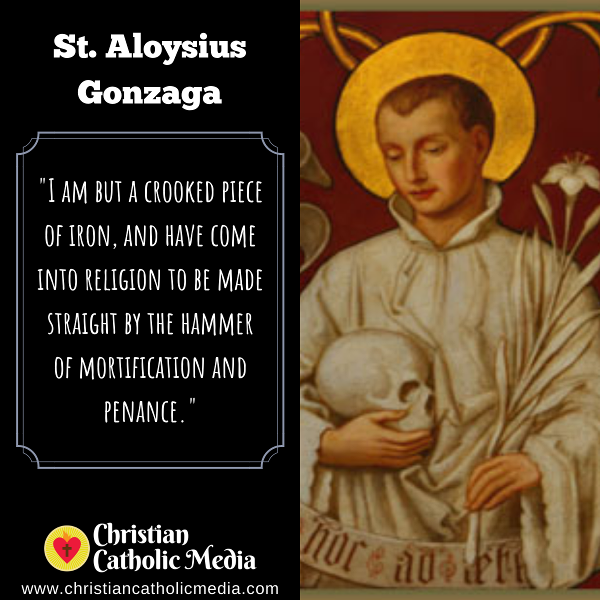St. Aloysius Gonzaga - Sunday June 21, 2020
