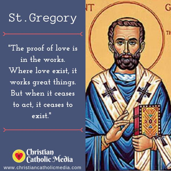 St. Gregory - Tuesday September 3, 2019