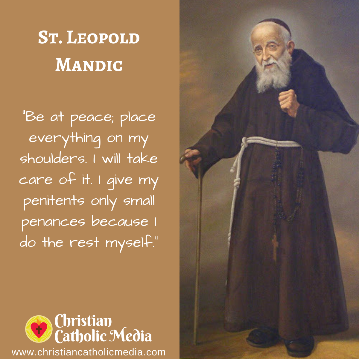 St. Leopold Mandic - Tuesday May 12, 2020