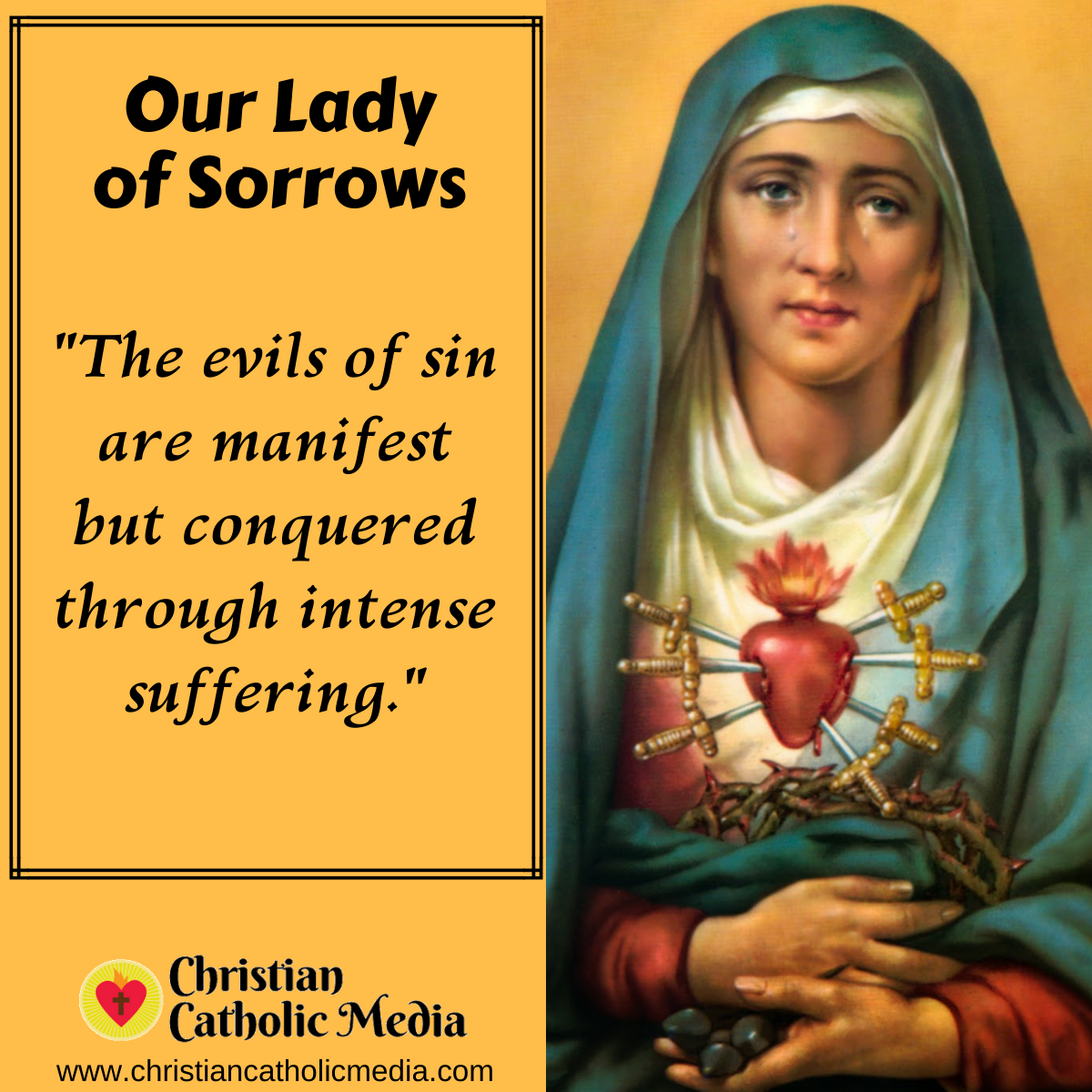 Our Lady of Sorrows - Tuesday September 15, 2020