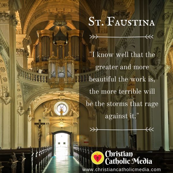 St. Faustina - Friday September 6, 2019