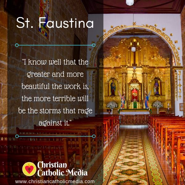 St. Faustina - Friday September 20, 2019