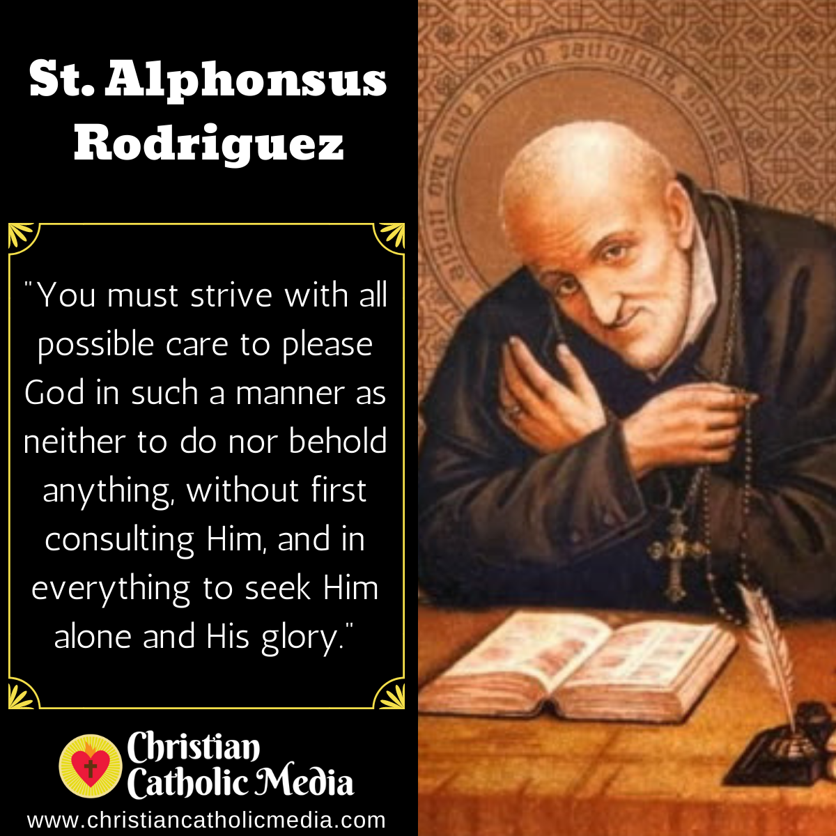 St. Alphonsus Rodriguez - Friday October 30, 2020