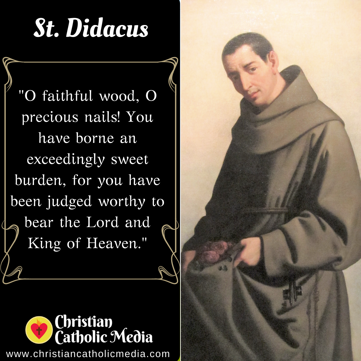 St. Didacus - Saturday November 7, 2020