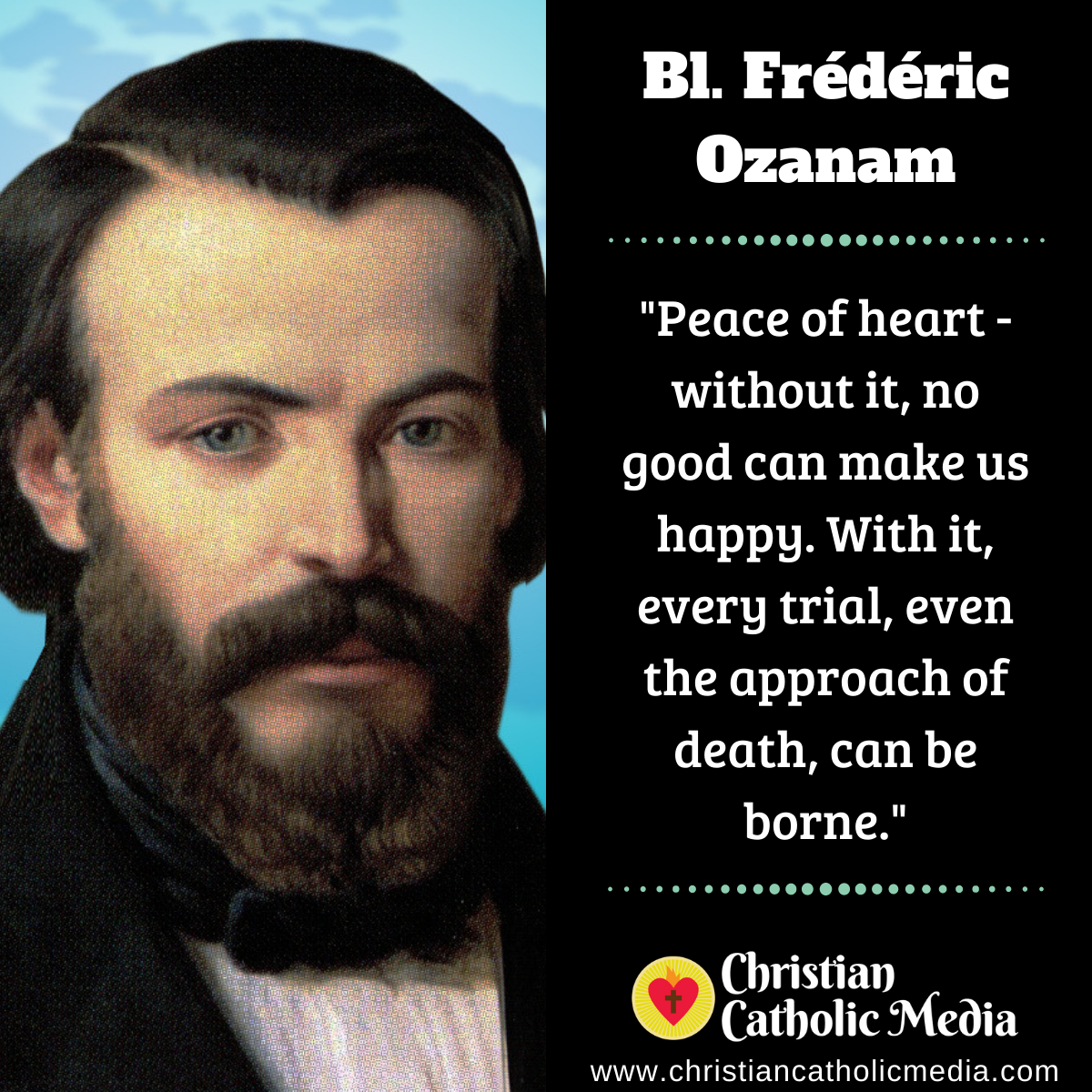 Bl. Frédéric Ozanam - Monday September 7, 2020