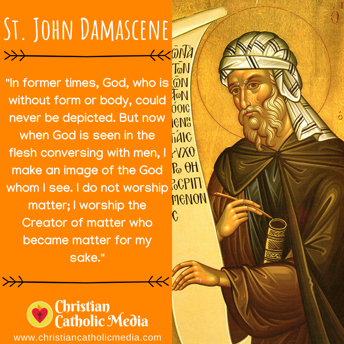 St. John Damascene - Friday December 4, 2020