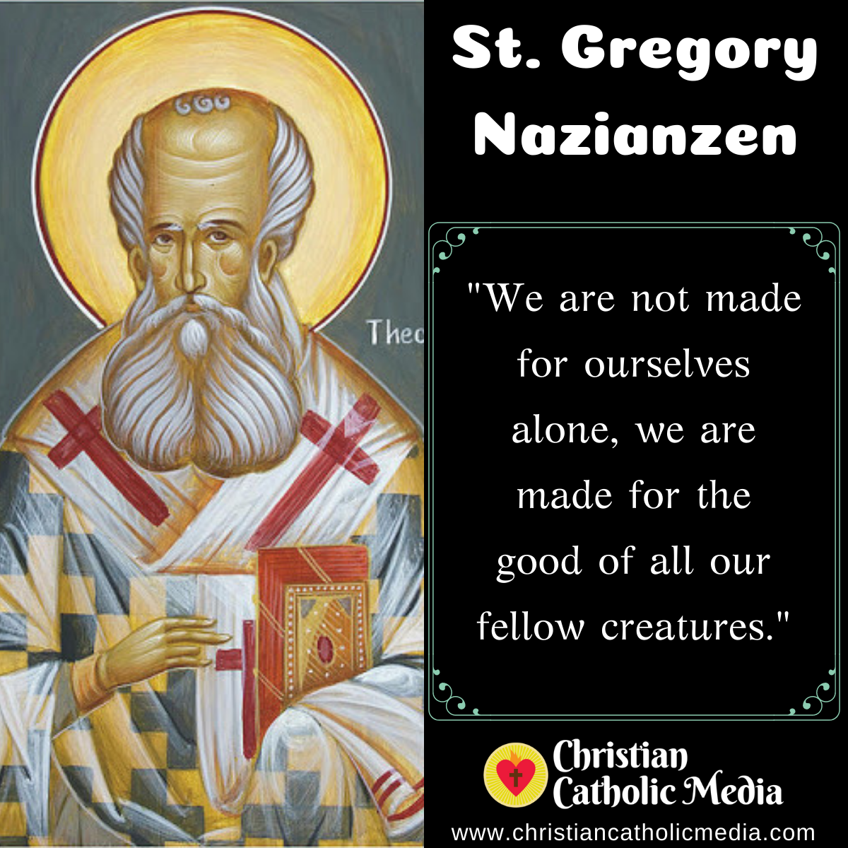 St. Gregory Nazianzen - Thursday January 14, 2021
